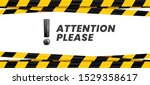 attention please banner.... | Shutterstock .eps vector #1529358617