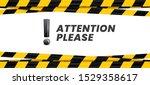attention please banner.... | Shutterstock .eps vector #1529358617