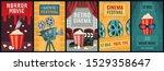 movie poster. horror film ... | Shutterstock .eps vector #1529358647