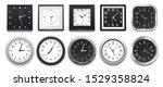realistic clock. modern white... | Shutterstock .eps vector #1529358824