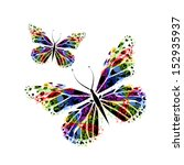 colorful butterflies  from... | Shutterstock . vector #152935937