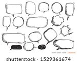 hand drawn set of colorful... | Shutterstock .eps vector #1529361674