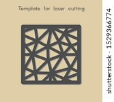template for laser cutting.... | Shutterstock .eps vector #1529366774