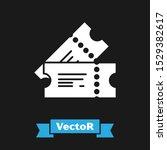 white cinema ticket icon... | Shutterstock .eps vector #1529382617