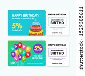 birthday gift voucher card...   Shutterstock .eps vector #1529385611