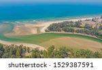 Aerial View Of River Estuary...