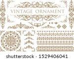 vintage ornament set. floral... | Shutterstock .eps vector #1529406041