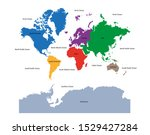 world map with continent in...   Shutterstock .eps vector #1529427284