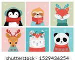 collection of christmas cute... | Shutterstock .eps vector #1529436254