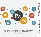 business strategy trendy circle ...