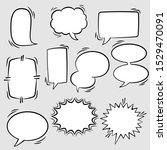 set of comic speech bubbles.... | Shutterstock .eps vector #1529470091