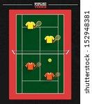 sport court series   tennis... | Shutterstock .eps vector #152948381