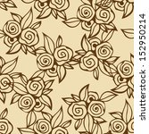 floral seamless pattern with... | Shutterstock . vector #152950214