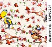 floral seamless texture... | Shutterstock . vector #152952929