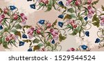 embroidery datura spring... | Shutterstock .eps vector #1529544524