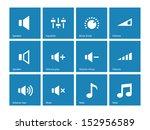 speaker icons on blue...