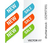 sign new labels | Shutterstock .eps vector #152957351