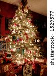 night time during the christmas ... | Shutterstock . vector #1529577