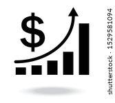 increasing revenue icon vector... | Shutterstock .eps vector #1529581094