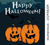halloween greeting card with... | Shutterstock .eps vector #152958209