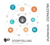 storytelling colored circle...