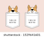 adorable cute dog sitting in...   Shutterstock .eps vector #1529641601