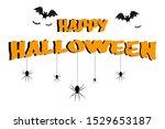 the happy halloween characters  ... | Shutterstock . vector #1529653187