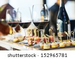 Catering Services Background Snacks Glasses - Fine Art prints