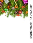 christmas background with balls ... | Shutterstock . vector #152965889