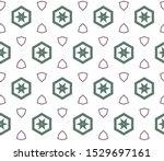 geometric ornamental vector... | Shutterstock .eps vector #1529697161