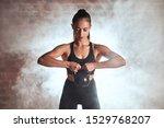 Female Training Biceps....