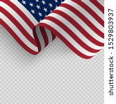 waving flag of the united... | Shutterstock .eps vector #1529803937