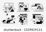 online education business... | Shutterstock .eps vector #1529819111