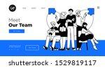 presentation slide template or... | Shutterstock .eps vector #1529819117
