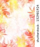 maple autumn leaves background   Shutterstock .eps vector #152981924