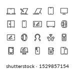devices line icons. desktop... | Shutterstock .eps vector #1529857154