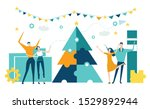 business people decorate... | Shutterstock .eps vector #1529892944