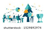 business people decorate... | Shutterstock .eps vector #1529892974