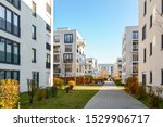 Modern Apartment Buildings In A ...