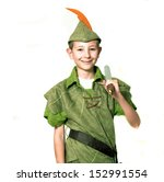 Young robin hood with sword...