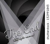 the end label over black... | Shutterstock .eps vector #152991845
