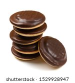 stack of jaffa cake or biscuit...   Shutterstock . vector #1529928947