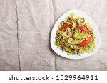 vegetarian salad of celery ... | Shutterstock . vector #1529964911