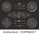 vector set of sacred geometric... | Shutterstock .eps vector #1529986517