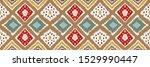 ikat geometric folklore... | Shutterstock .eps vector #1529990447