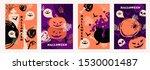 happy halloween. hand drawn... | Shutterstock .eps vector #1530001487