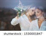 young lesbian 20s couple... | Shutterstock . vector #1530001847