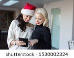 young women online shopping by... | Shutterstock . vector #1530002324