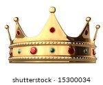 a king's golden crown on a... | Shutterstock . vector #15300034