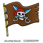 pirate flag  | Shutterstock .eps vector #153000599